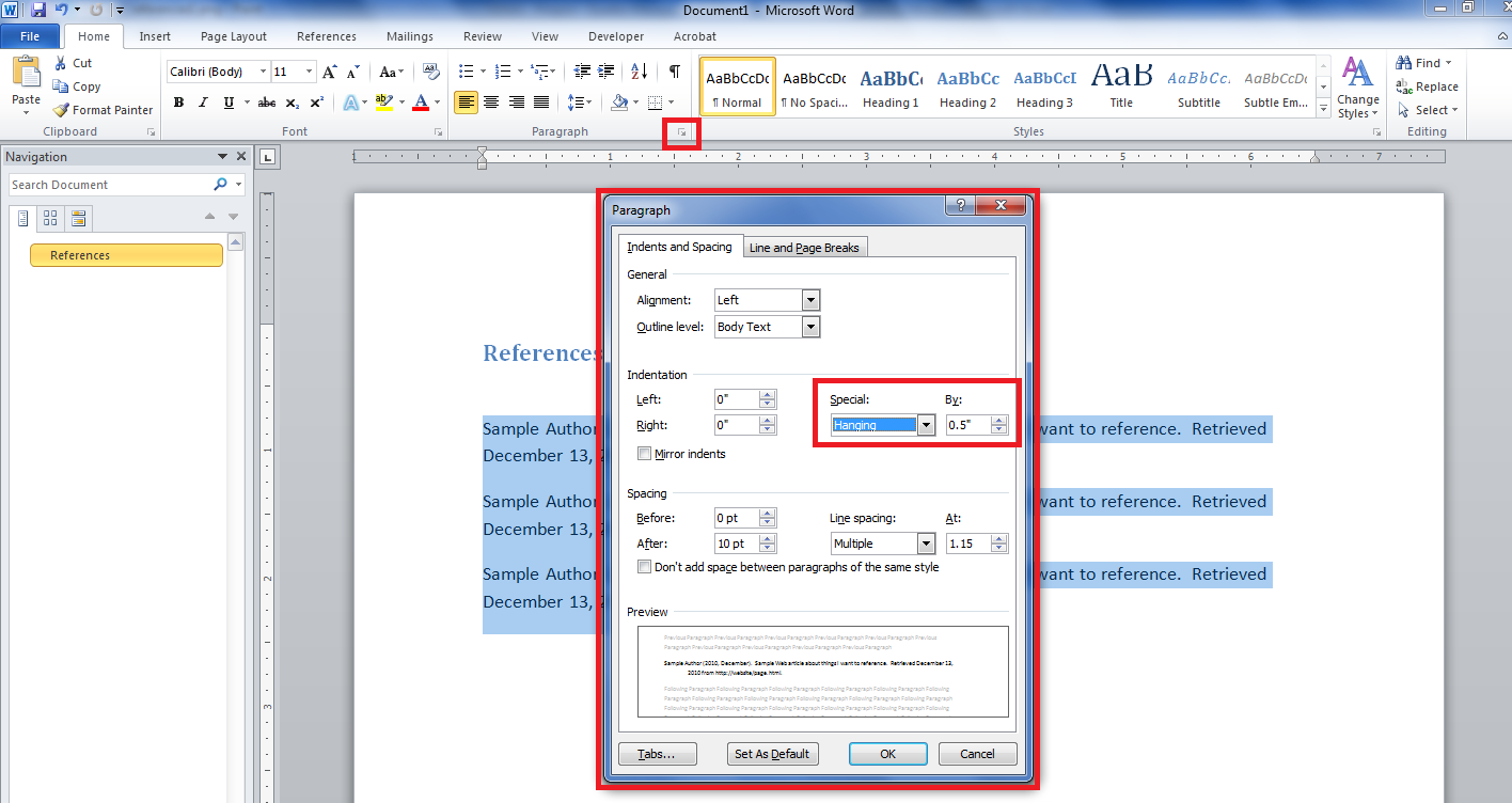 how to do apa format on microsoft word