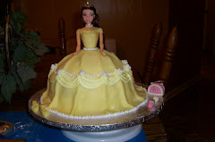 Princess Belle fondant cake