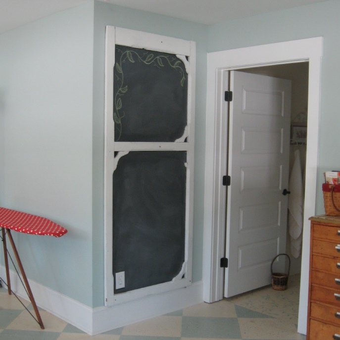 Superbe Screen Door Chalkboard
