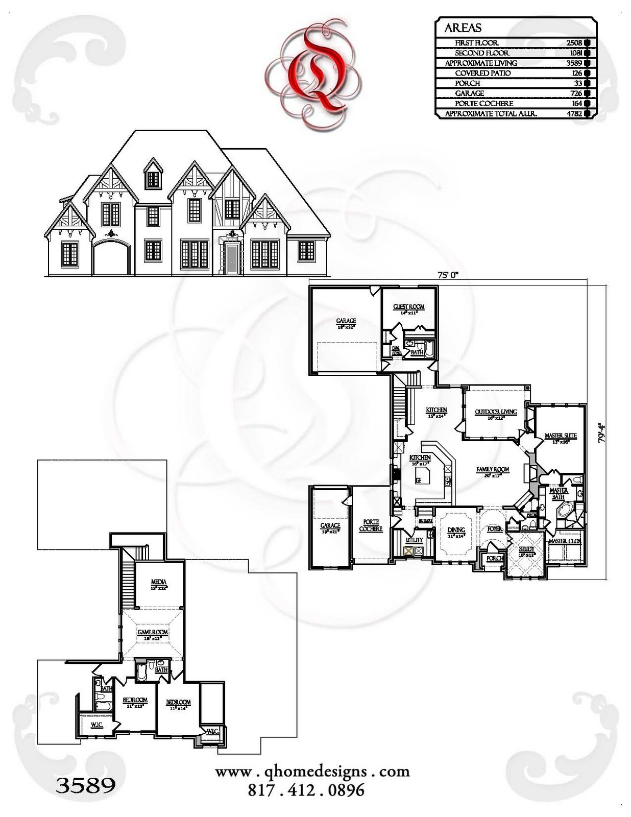House Plans with Porte Cochere