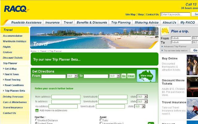 RACQ Trip Planner - www.racq.com.au/travel/trip_planner