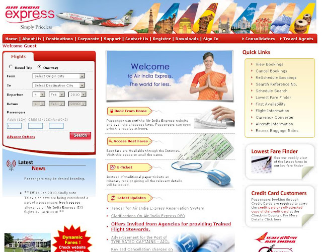 Air India Express : Online Booking - www.AirIndiaExpress.in Ticket Reservation