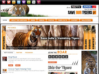 Save Our Tigers Campaign from NDTV at tiger.ndtv.com