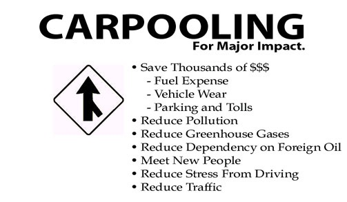 the benefits of carpooling essay Essay 2: driving your own car to work vs carpooling driving your own car to work vs carpooling the obvious benefits of carpooling include reduced traffic.