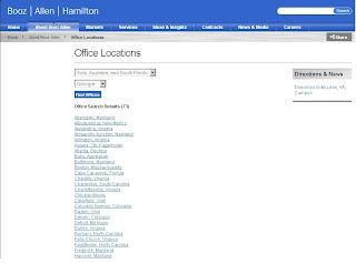 Find Booz Allen Hamilton Locations using boozallen.com