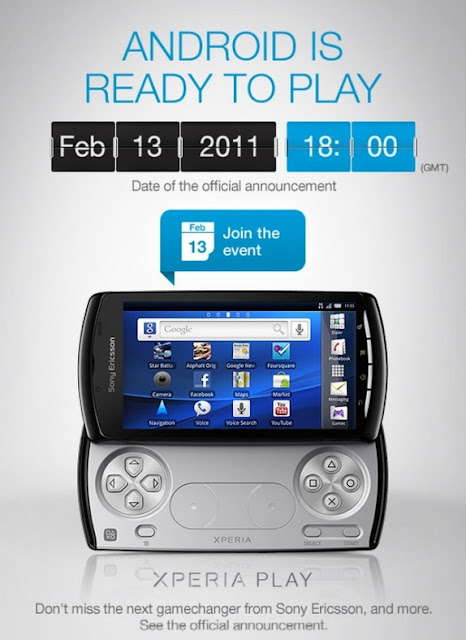 Sony to launch Xperia Play on 13th Feb
