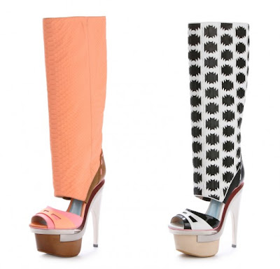 versace platform boots 2010