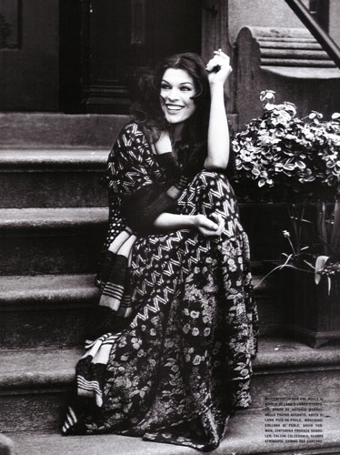 milla jovovich in vintage hippie clothes