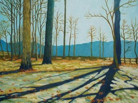 New Jersey Wood - Winter Light -- Sold
