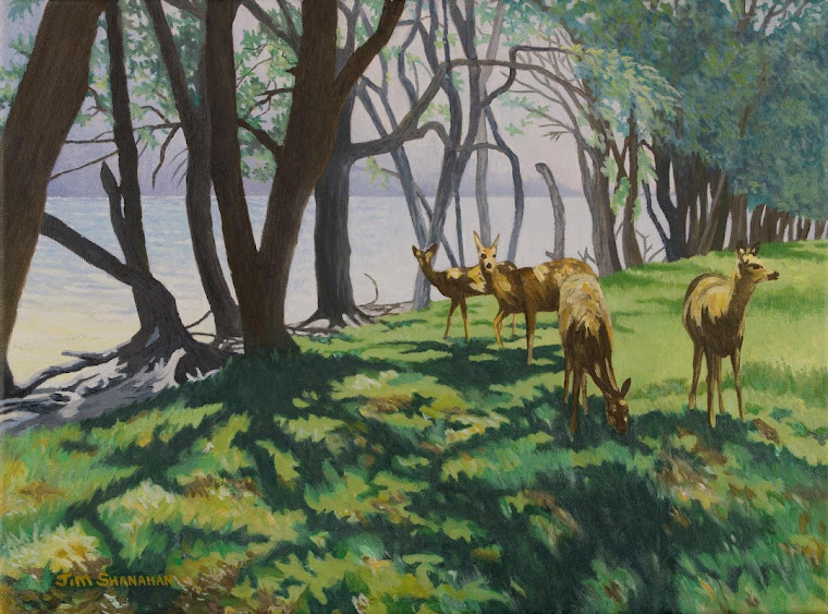 Deer at Lakeside -- Sold