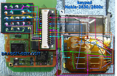 SOLUTION TRACK KEYPAD NOKIA 2600c - Diagram PCB elektronika