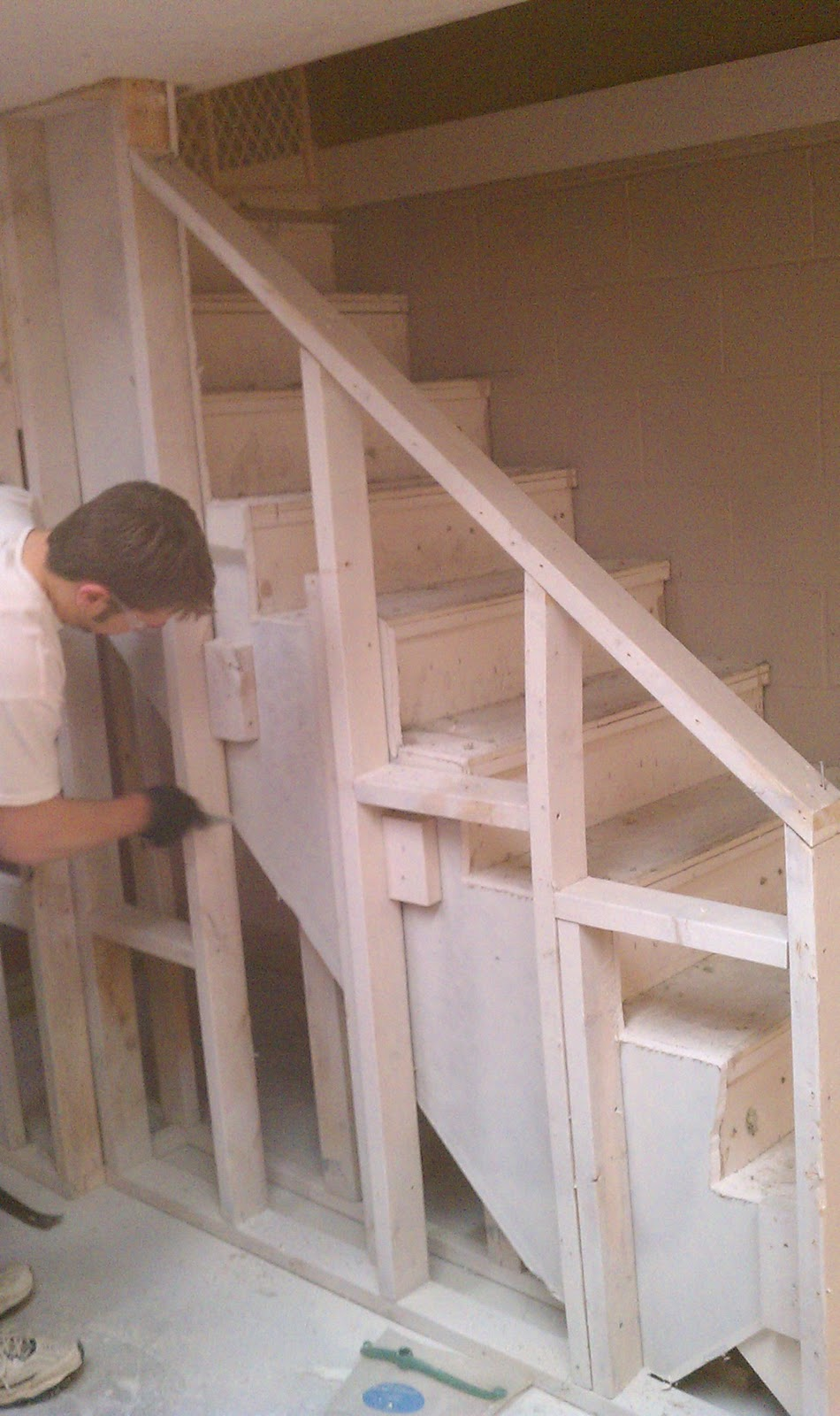 Bigger Better Best Basement Boogie Ups And Downs - Unfinished basement stairs