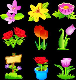 Flores en diferentes estilos vectorizadas.