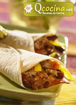 Fajitas con carne mexicana