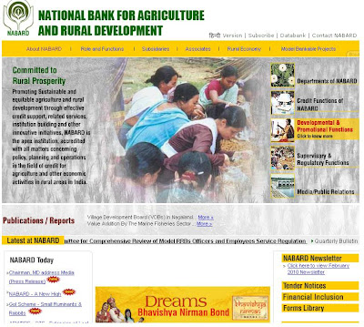 NABARD Recruitment 2010 Notification on www.nabard.org