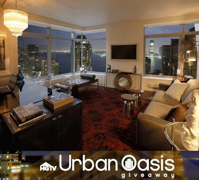 HGTV Dream home Offers HGTV Urban Oasis giveaway on hgtv.com