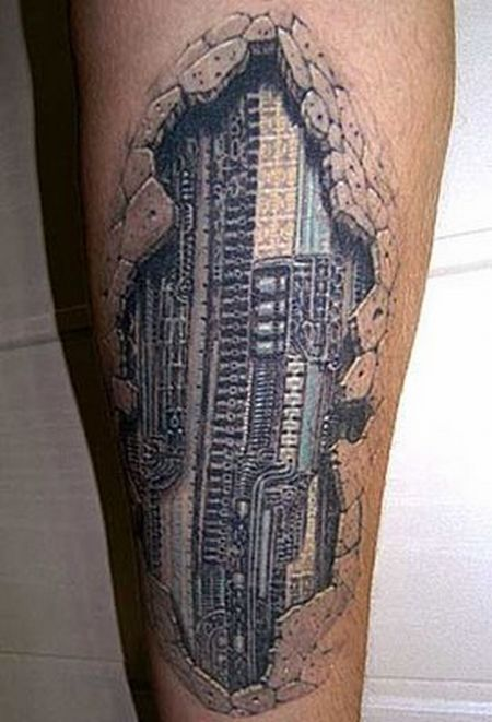 Shocking 3D Tattoo Designs For 2011