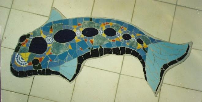 peixe em azul