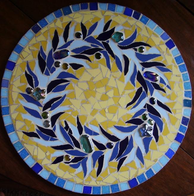 prato- guirlanda azul-amarelos