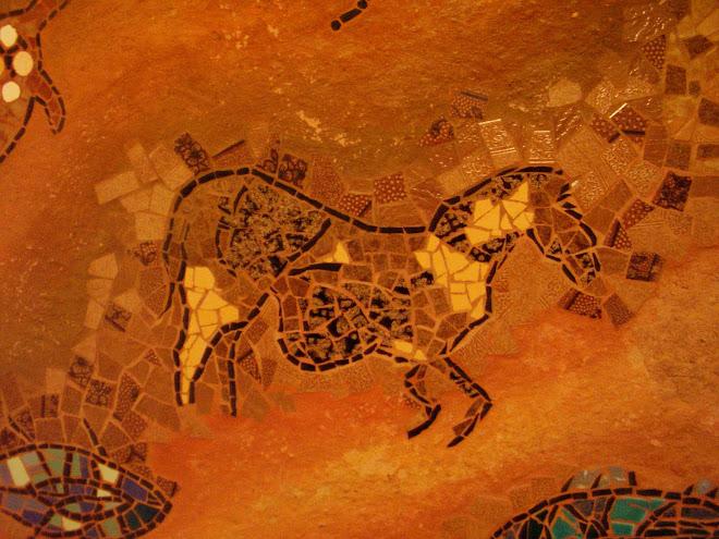 Mural rupestre, detalhe (cavalo)