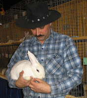 Bunny and Cowboy at the Farm Show