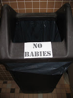 No Babies Trash Can