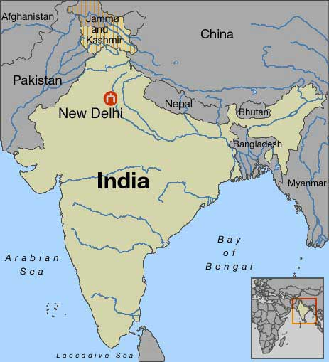 Where Is New Delhi India On A Map