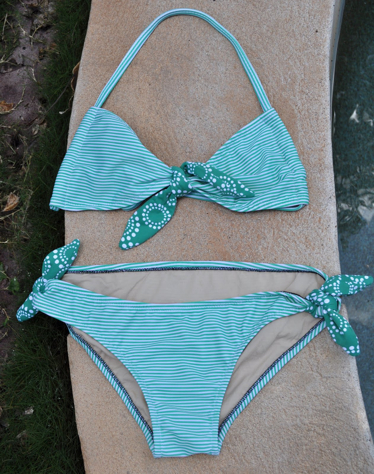 Minty striped bikini