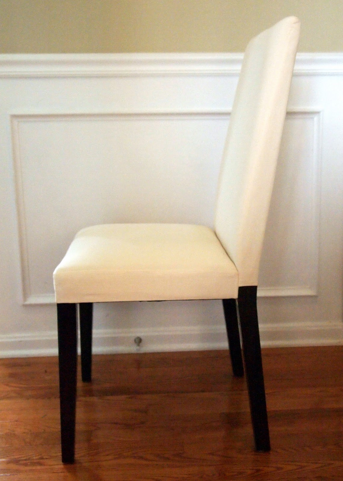 my morning slip cover chair project using remnant fabric no sewing needed