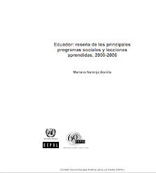 Ecuador: reseña de los principales programas sociales y lecciones aprendidas 2000-2006