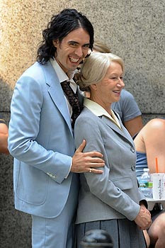 Russell Brand with Hellen Mirre