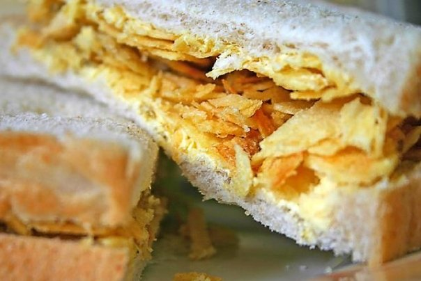 Classic crisp sandwich (key to a (British) man's heart?)...