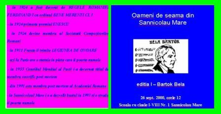 """""""Oameni de seama din Sannicolau Mare"""""""