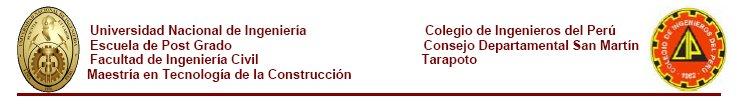 MAESTRIA EN TECNOLOGIA DE LA CONSTRUCCION
