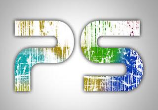 20 Photoshop Tutorials: Make Grunge Rainbow text effect