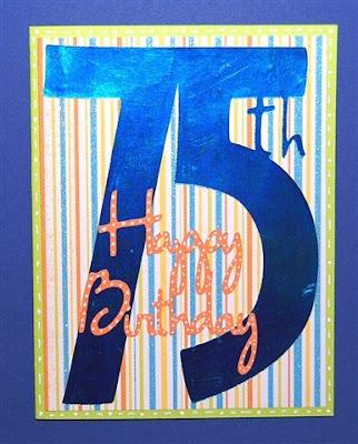 Capadia Designs 75th Birthday Card
