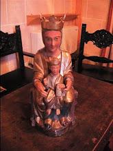 """Virgen denominada """"de las Navas"""", conservada en Santa María de Huerta."""
