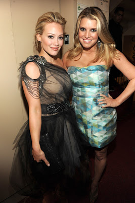 Hilary Duff with Jessica Simpson