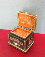 Lacquered oriental Box with drawer