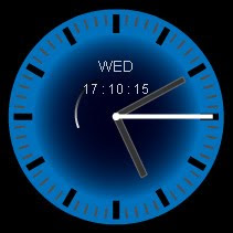 deep blue free flash clock preview