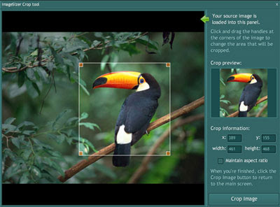ImageSizer Adobe AIR application preview