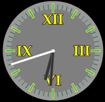roman times free flash clock preview