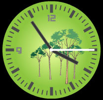 trees flash clock preview