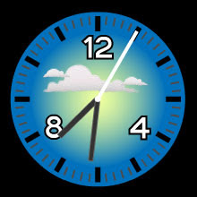 cloudy free flash clock preview