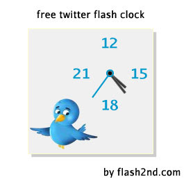 twitter free flash clock preview