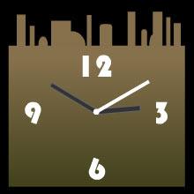 free cityscape web clock