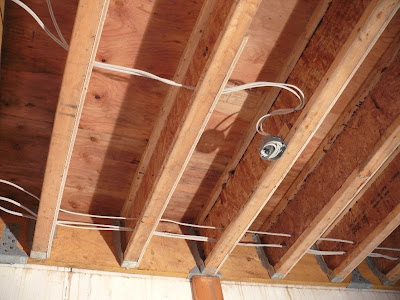 building a house a simple plan rough wiring and half sistered joists rh meiklejohnhouse blogspot com Wiring a Basement Residential Wiring
