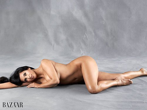 Of Issue Cover Page Displays Kim Kardashian S Unretouched Nude Picture