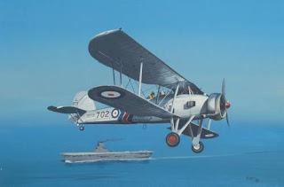 Бумажная модель самолета Fairey Swordfish