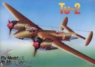 Бумажная модель Двухмоторный Пикирующий бомбардировщик ТУ-2